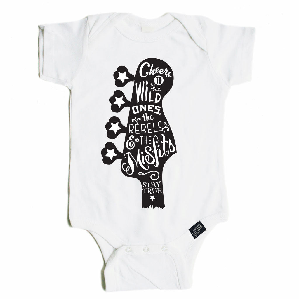 Guitar Love Baby Bodysuit-onesie-baby-Little Misfits-tattoo-sleeves-trendy-baby-clothes-for-boys-girls-toddler