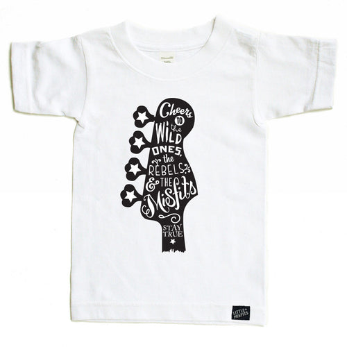 Guitar Love - Youth Tee - Black Youth Tee-onesie-baby-Little Misfits-tattoo-sleeves-trendy-baby-clothes-for-boys-girls-toddler