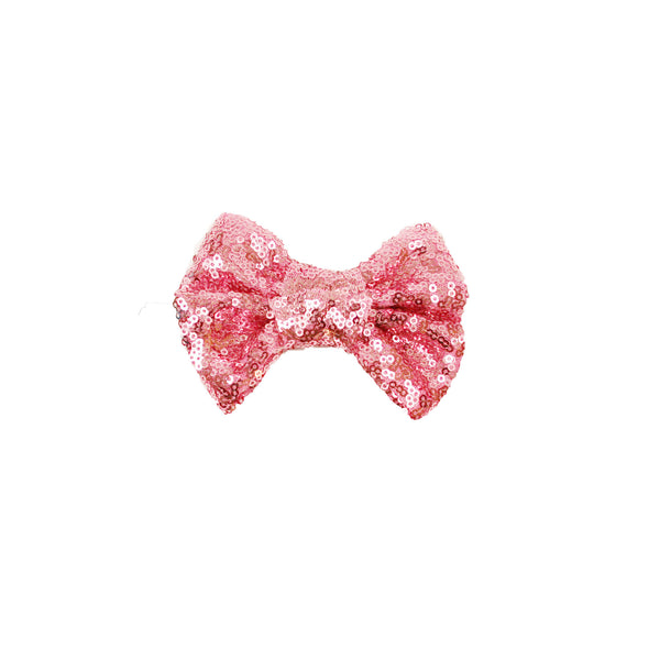 Dusty Pink Sparke Hair Bow / Sequin Hair Bow-onesie-baby-Little Misfits-tattoo-sleeves-trendy-baby-clothes-for-boys-girls-toddler