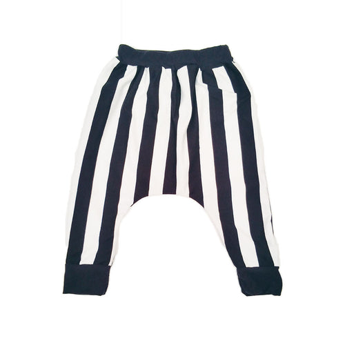 Vertical Stripe Harem / Drop Crotch Baby Pants-onesie-baby-Little Misfits-tattoo-sleeves-trendy-baby-clothes-for-boys-girls-toddler