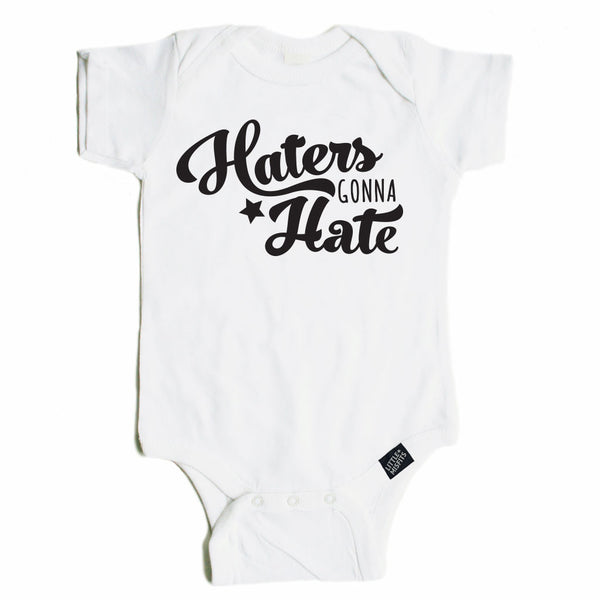 Haters Gonna Hate Onesie-onesie-baby-Little Misfits-tattoo-sleeves-trendy-baby-clothes-for-boys-girls-toddler