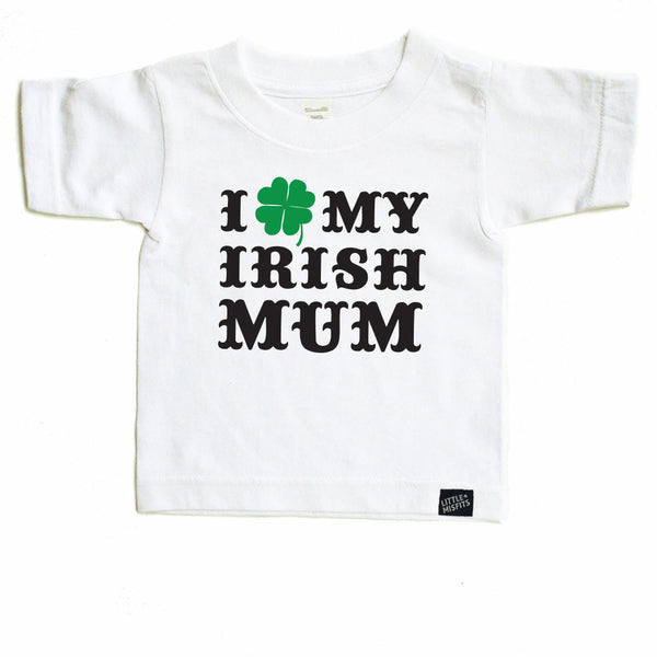 I Shamrock My Irish Mom / Mum - White-onesie-baby-Little Misfits-tattoo-sleeves-trendy-baby-clothes-for-boys-girls-toddler
