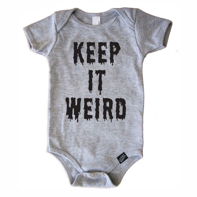 Keep It Weird-onesie-baby-Little Misfits-tattoo-sleeves-trendy-baby-clothes-for-boys-girls-toddler