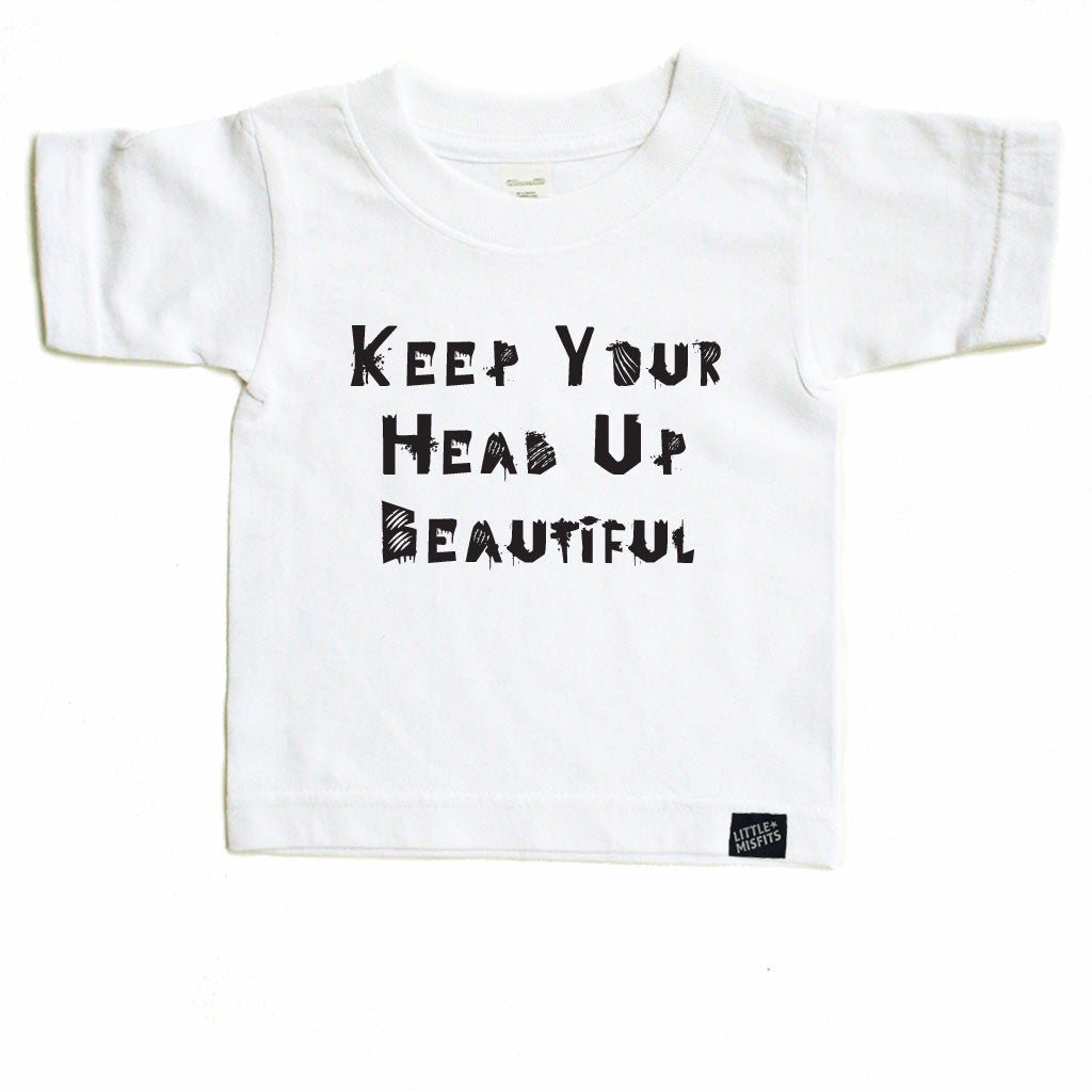 Keep Your Head Up Beautiful - Skate for Cancer (S4C) - Toddler-onesie-baby-Little Misfits-tattoo-sleeves-trendy-baby-clothes-for-boys-girls-toddler