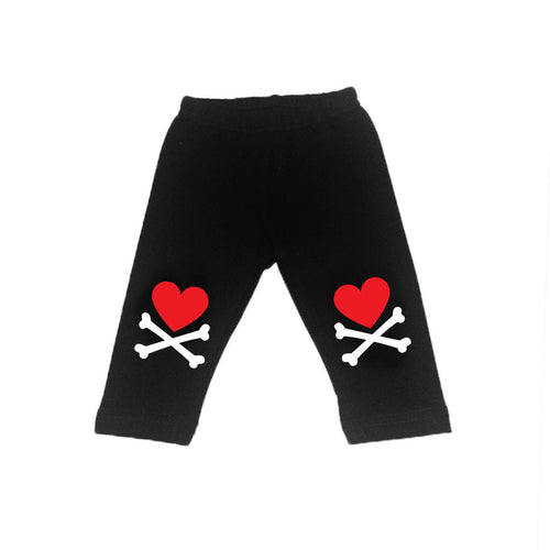Heart and Crossbone Leggings-onesie-baby-Little Misfits-tattoo-sleeves-trendy-baby-clothes-for-boys-girls-toddler