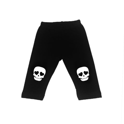 Skull Love Leggings (Unisex)-onesie-baby-Little Misfits-tattoo-sleeves-trendy-baby-clothes-for-boys-girls-toddler