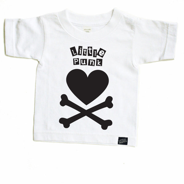 Little Punk Toddler Tee-onesie-baby-Little Misfits-tattoo-sleeves-trendy-baby-clothes-for-boys-girls-toddler