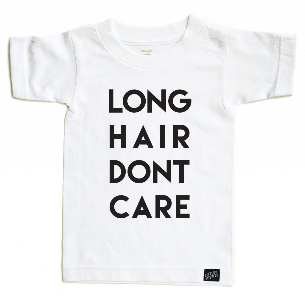Long Hair, Don't Care-onesie-baby-Little Misfits-tattoo-sleeves-trendy-baby-clothes-for-boys-girls-toddler