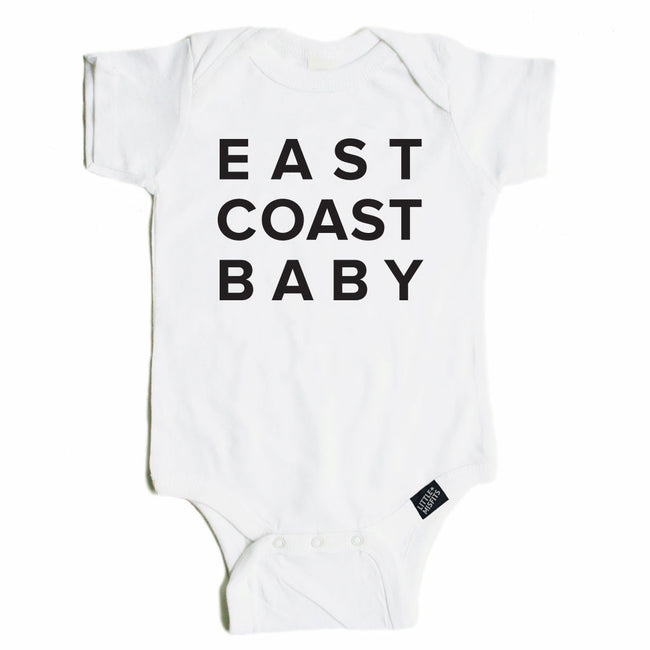 East Coast Baby Onesie - Black or White-onesie-baby-Little Misfits-tattoo-sleeves-trendy-baby-clothes-for-boys-girls-toddler