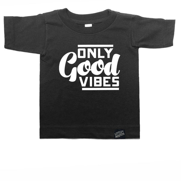 Only Good Vibes Toddler Tee-onesie-baby-Little Misfits-tattoo-sleeves-trendy-baby-clothes-for-boys-girls-toddler