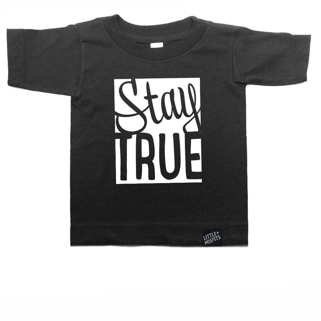 Stay True Toddler Tee-onesie-baby-Little Misfits-tattoo-sleeves-trendy-baby-clothes-for-boys-girls-toddler