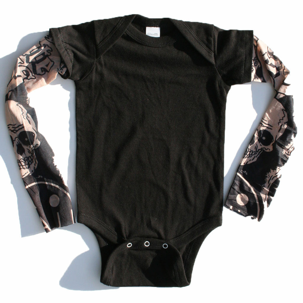 Amazing Tattoo Sleeve Onesie-onesie-baby-Little Misfits-tattoo-sleeves-trendy-baby-clothes-for-boys-girls-toddler