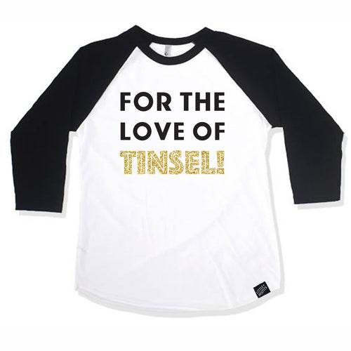 For The Love of Tinsel Baby Raglan - Baby Baseball Shirt-onesie-baby-Little Misfits-tattoo-sleeves-trendy-baby-clothes-for-boys-girls-toddler