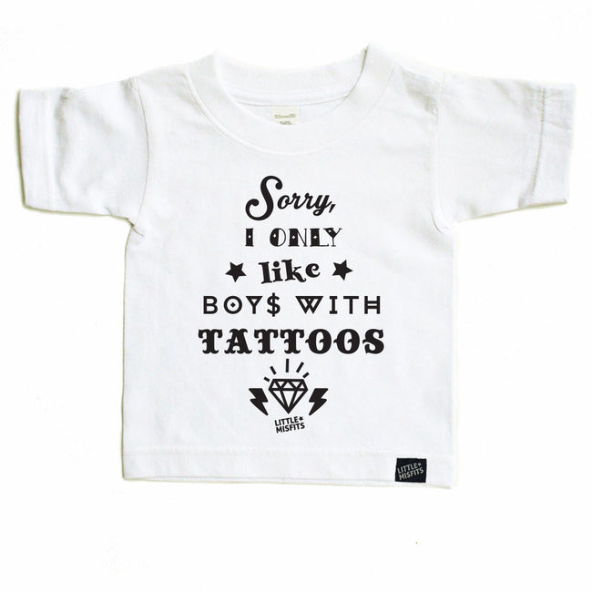 Boys With Tattoos Toddler T-Shirt / Black or White-onesie-baby-Little Misfits-tattoo-sleeves-trendy-baby-clothes-for-boys-girls-toddler