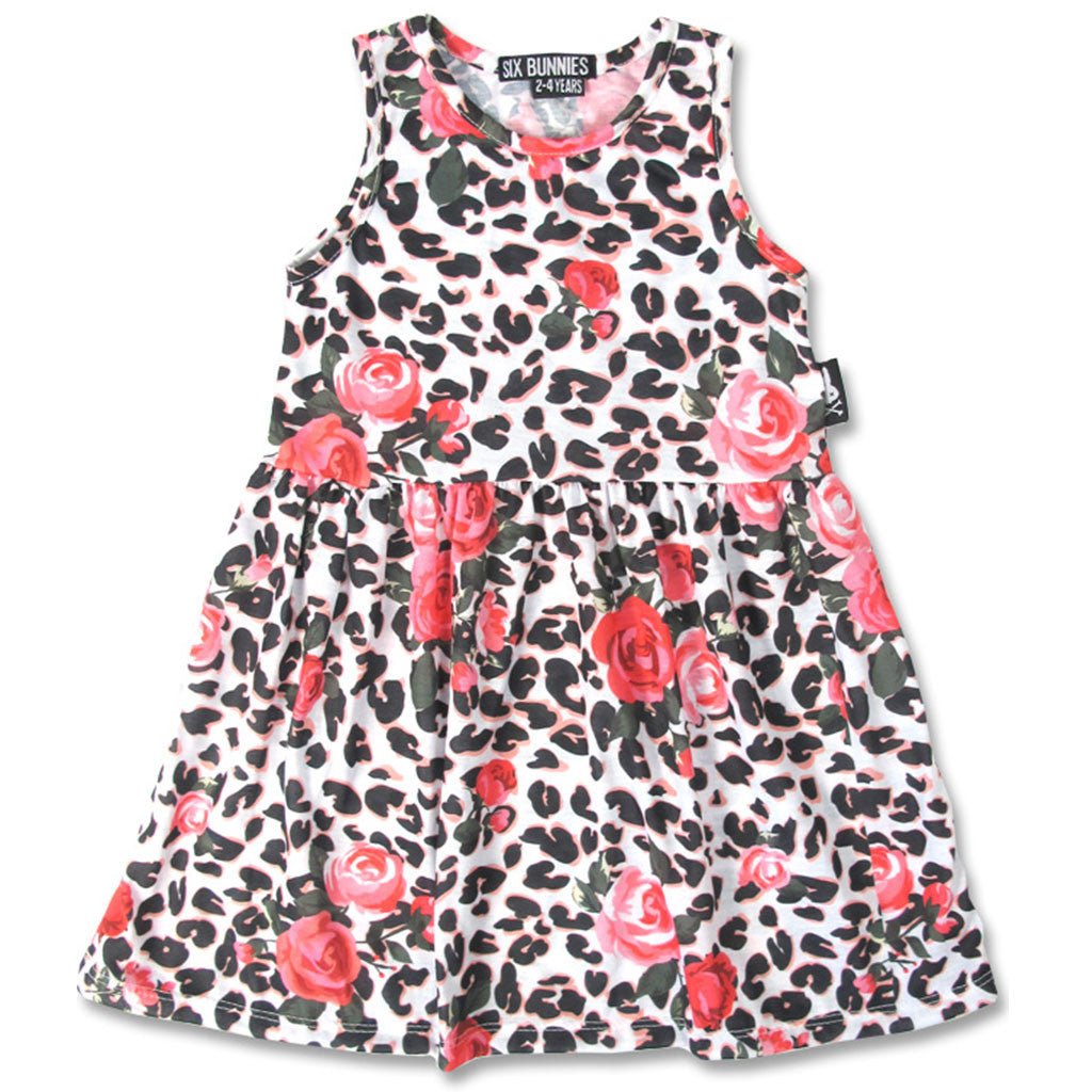 Floral Leopard Dress-onesie-baby-Six Bunnies-tattoo-sleeves-trendy-baby-clothes-for-boys-girls-toddler