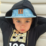 Beau Hudson Denim on Denim Hat / Kids Baseball Cap-onesie-baby-Beau Hudson-tattoo-sleeves-trendy-baby-clothes-for-boys-girls-toddler