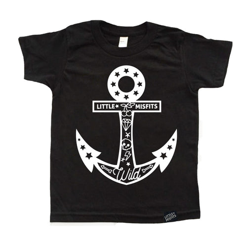 Tattooed Anchor - Youth Shirt-onesie-baby-Little Misfits-tattoo-sleeves-trendy-baby-clothes-for-boys-girls-toddler