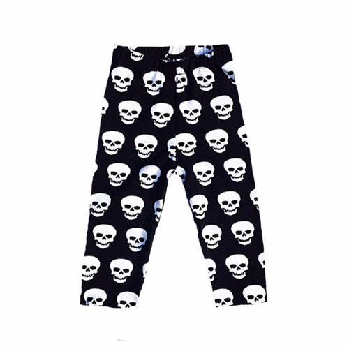 Black and White Skull Baby Leggings-onesie-baby-Little Misfits-tattoo-sleeves-trendy-baby-clothes-for-boys-girls-toddler