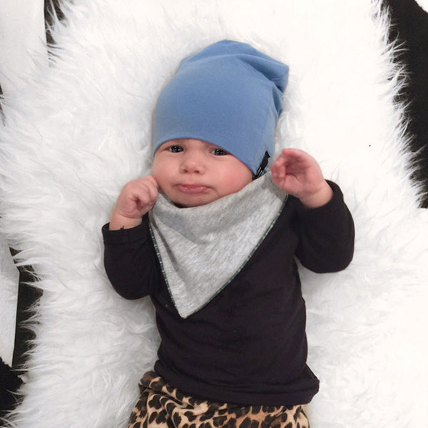 Beau Hudson Blue Newborn Beanie Hat / Baby Slouch Beanie-onesie-baby-Beau Hudson-tattoo-sleeves-trendy-baby-clothes-for-boys-girls-toddler