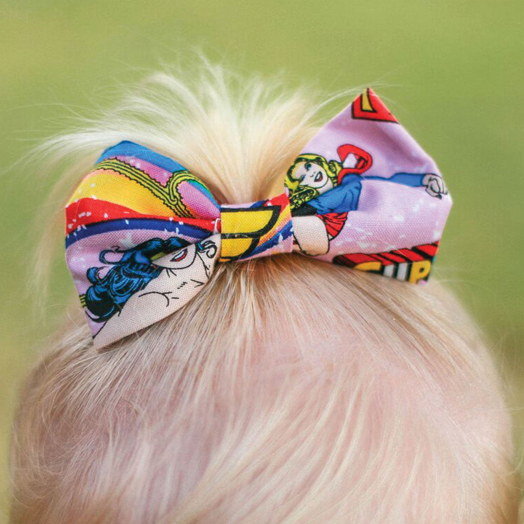 Wonder Woman - Prettylicious Hair Bows-onesie-baby-Little Misfits-tattoo-sleeves-trendy-baby-clothes-for-boys-girls-toddler