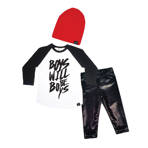 Boys Will Be Boys Baby Gift Set-onesie-baby-Little Misfits-tattoo-sleeves-trendy-baby-clothes-for-boys-girls-toddler