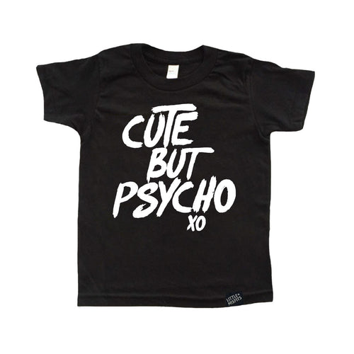 Cute But Psycho Tattoo Sleeve Toddler Tee-onesie-baby-Little Misfits-tattoo-sleeves-trendy-baby-clothes-for-boys-girls-toddler