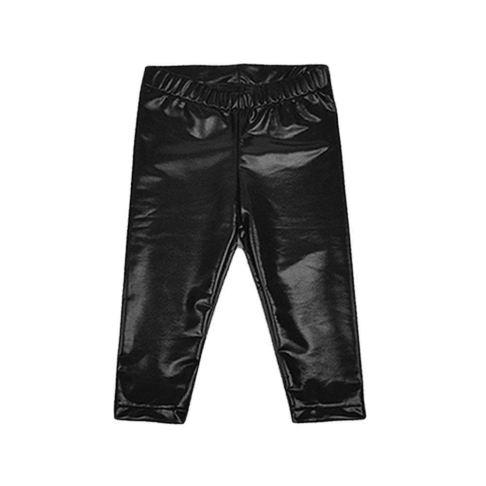 Black Faux Leather Baby Leggings-onesie-baby-Little Misfits-tattoo-sleeves-trendy-baby-clothes-for-boys-girls-toddler