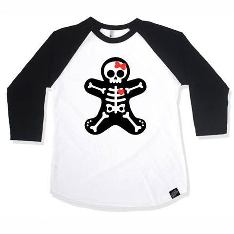 Cutie Donut Girls Black 3/4 Sleeve Raglan