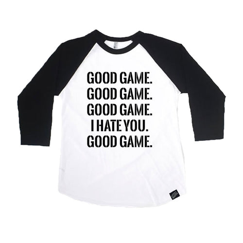 Good Game Infant Toddler or Kids Raglan / Kids Baseball Shirt-onesie-baby-Little Misfits-tattoo-sleeves-trendy-baby-clothes-for-boys-girls-toddler