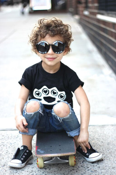 Heart Knuckles-onesie-baby-Little Misfits-tattoo-sleeves-trendy-baby-clothes-for-boys-girls-toddler