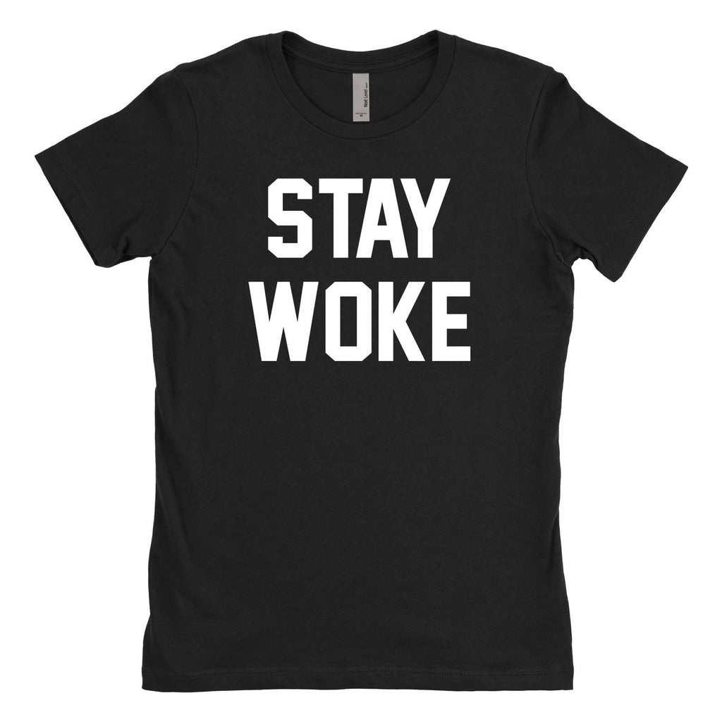 Stay Woke T Shirt, Political Statement Shirt, Women's Rights Shirt, Black Lives Matter T-Shirt-onesie-baby-Misfit Culture-tattoo-sleeves-trendy-baby-clothes-for-boys-girls-toddler