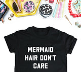 Mermaid Hair Shirt, Mermaid T-shirts Women, Women's Urban Black Shirt, Funny T-Shirt, Edgy T-Shirt, Good Girls T-Shirt Tee-onesie-baby-Misfit Culture-tattoo-sleeves-trendy-baby-clothes-for-boys-girls-toddler