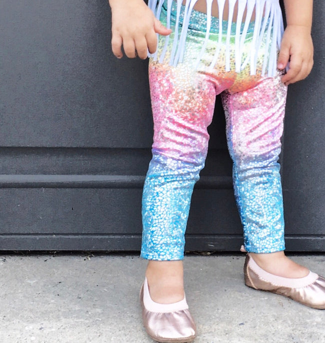 "Sparkly ""Fairy Dust"" Baby Leggings - Whimsical Sparkly Unicorn Rainbow Baby Leggings-onesie-baby-Little Misfits-tattoo-sleeves-trendy-baby-clothes-for-boys-girls-toddler"