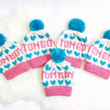 Tom Boy Hand Knit Beanie-onesie-baby-Little Misfits-tattoo-sleeves-trendy-baby-clothes-for-boys-girls-toddler