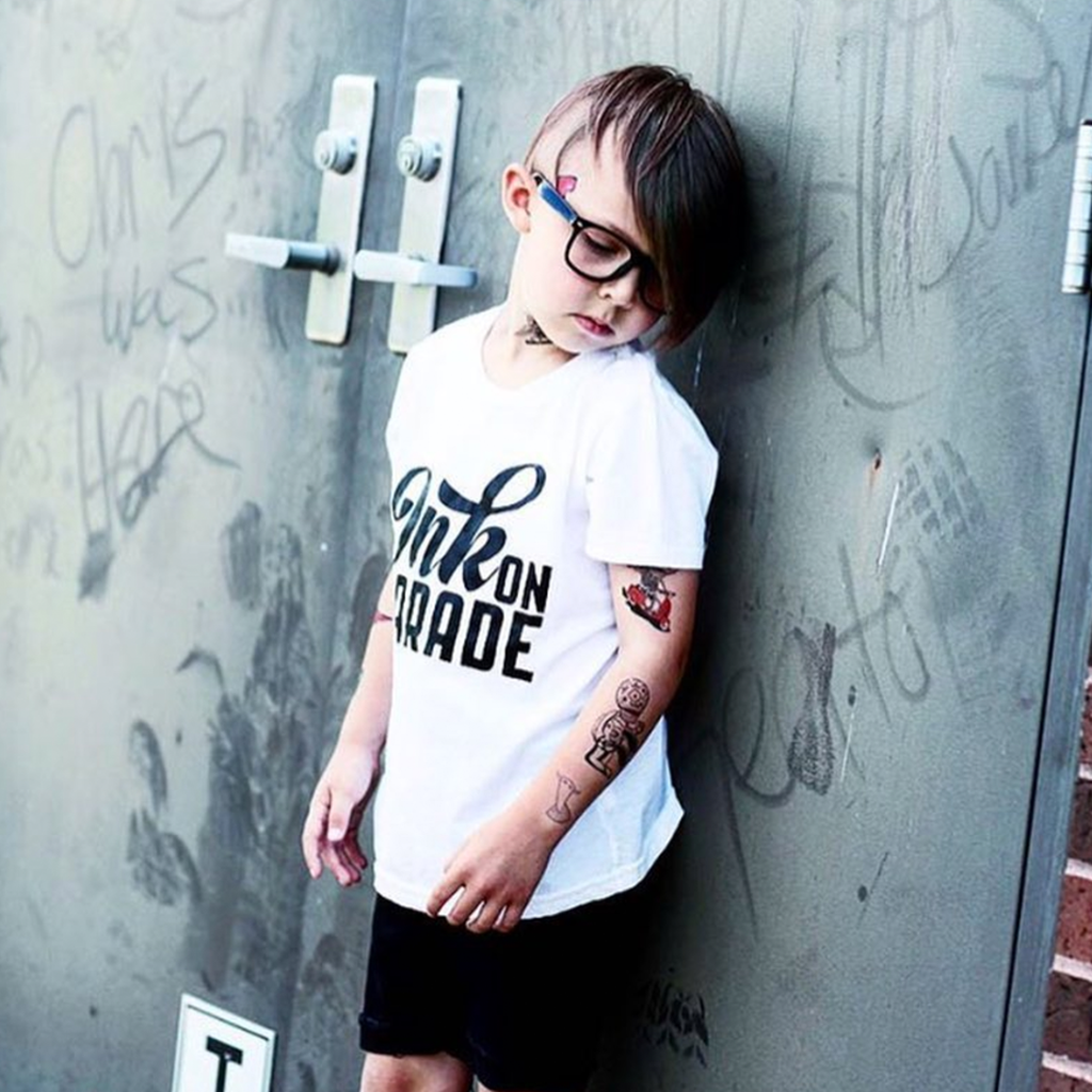 Ink on Parade Kid's T-Shirt-onesie-baby-Little Misfits-tattoo-sleeves-trendy-baby-clothes-for-boys-girls-toddler
