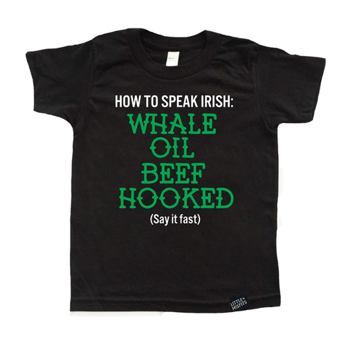 How to Speak Irish - Youth Shirt-onesie-baby-Little Misfits-tattoo-sleeves-trendy-baby-clothes-for-boys-girls-toddler