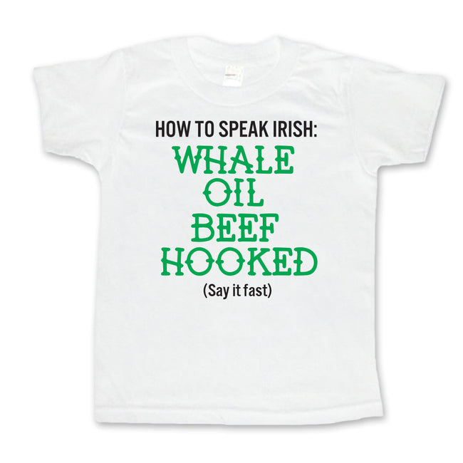 How to Speak Irish - Toddler or Kids Shirt-onesie-baby-Little Misfits-tattoo-sleeves-trendy-baby-clothes-for-boys-girls-toddler