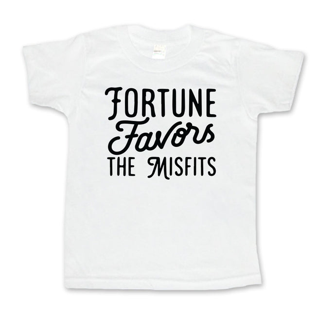 Fortune Favors The Misfits - Toddler or Kids Shirt-onesie-baby-Little Misfits-tattoo-sleeves-trendy-baby-clothes-for-boys-girls-toddler