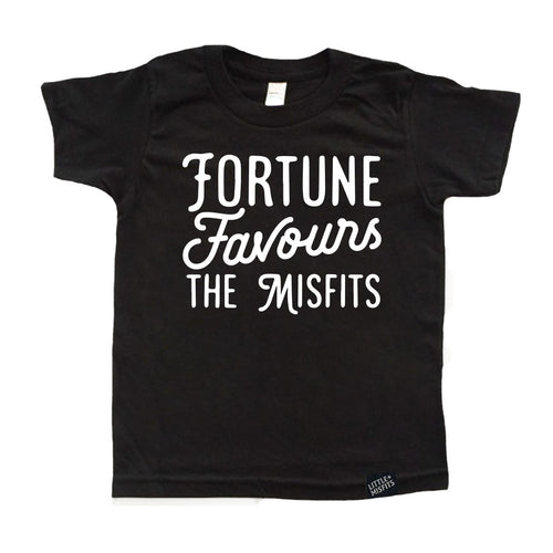 Fortune Favours The Misfits - Toddler or Kids Shirt-onesie-baby-Little Misfits-tattoo-sleeves-trendy-baby-clothes-for-boys-girls-toddler
