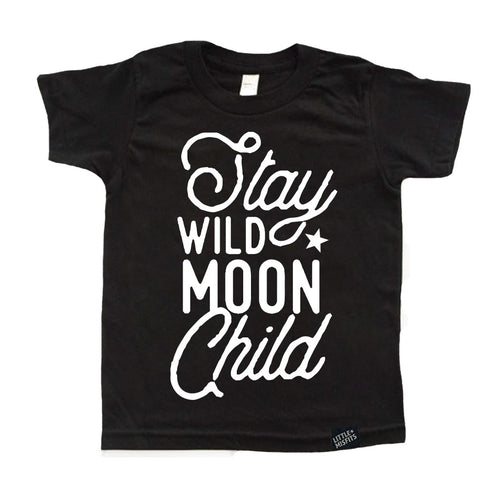 Stay Wild Moon Child - Toddler or Kids Shirt-onesie-baby-Little Misfits-tattoo-sleeves-trendy-baby-clothes-for-boys-girls-toddler
