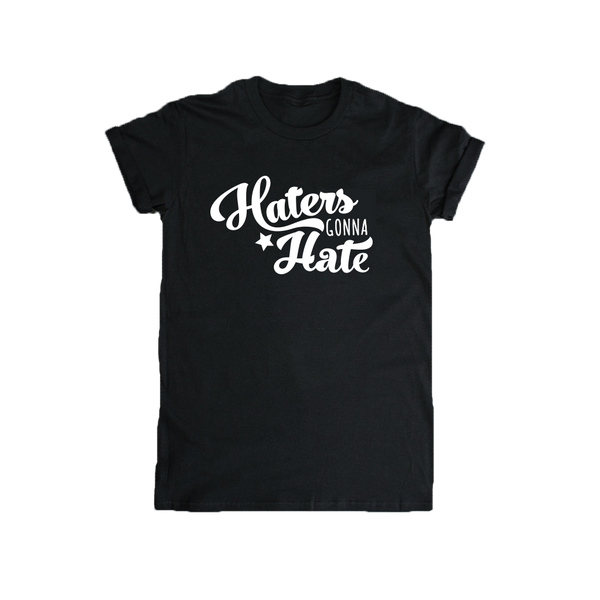 Haters Gonna Hate Adult Women's T-shirt-onesie-baby-Little Misfits-tattoo-sleeves-trendy-baby-clothes-for-boys-girls-toddler