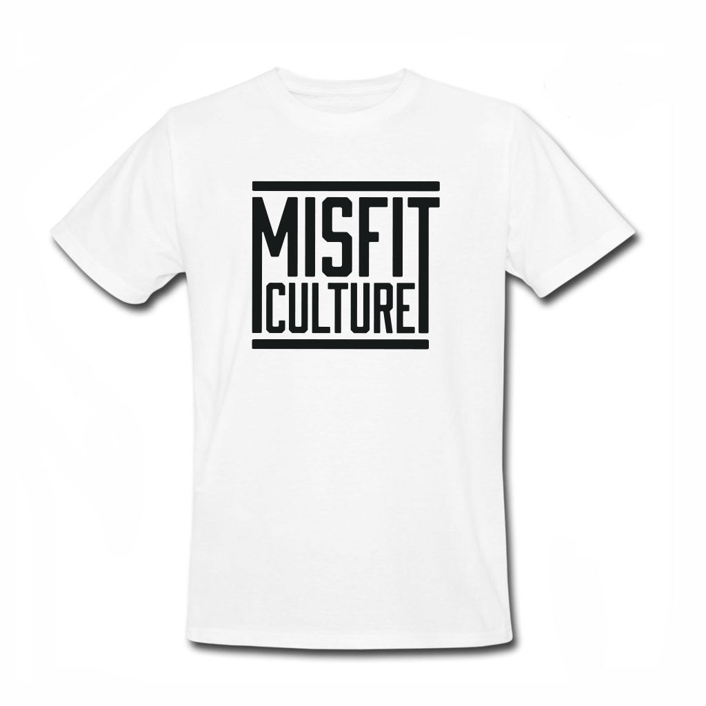 Misfit Culture Men's Tee - White-onesie-baby-Little Misfits-tattoo-sleeves-trendy-baby-clothes-for-boys-girls-toddler