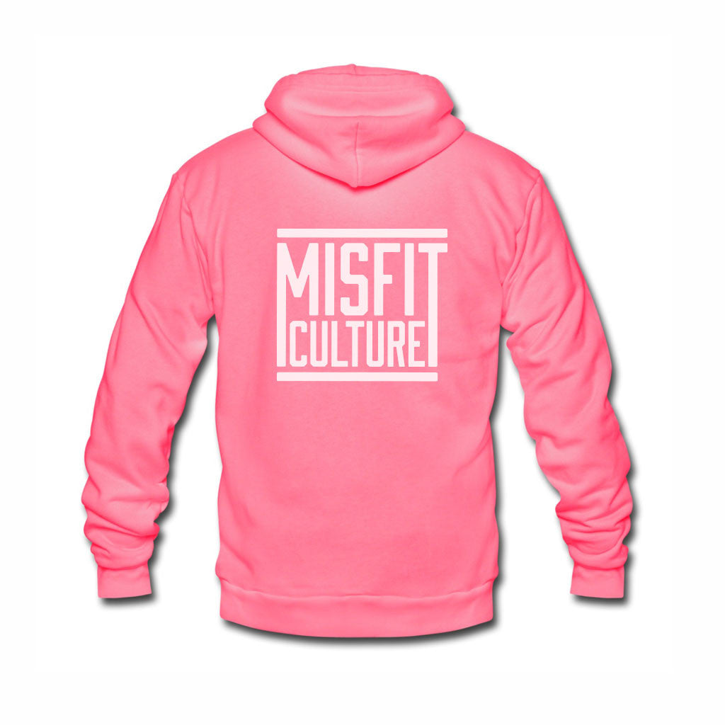 Misfit Culture Unisex Hoodie - Pink-onesie-baby-Misfit Culture-tattoo-sleeves-trendy-baby-clothes-for-boys-girls-toddler