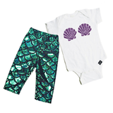 Mermaid Baby Gift Set (aka the perfect baby shower gift)-onesie-baby-Little Misfits-tattoo-sleeves-trendy-baby-clothes-for-boys-girls-toddler