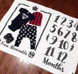Little King or Queen Baby Milestone Blanket-onesie-baby-Little Misfits-tattoo-sleeves-trendy-baby-clothes-for-boys-girls-toddler