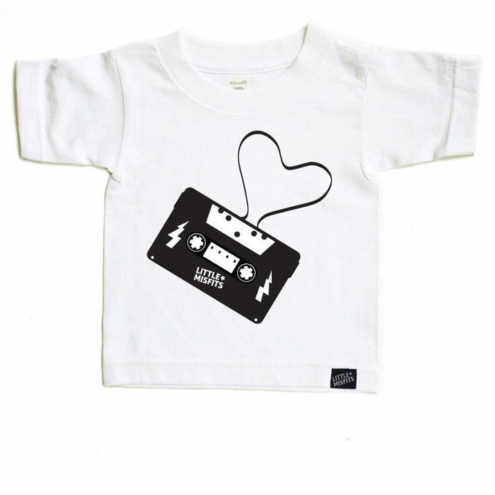 Mixed Tape - Dear Jack Foundation (DJF) - Toddler-onesie-baby-Little Misfits-tattoo-sleeves-trendy-baby-clothes-for-boys-girls-toddler