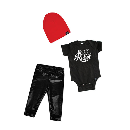 Rock n' Roll Rebel Baby Gift Set-onesie-baby-Little Misfits-tattoo-sleeves-trendy-baby-clothes-for-boys-girls-toddler