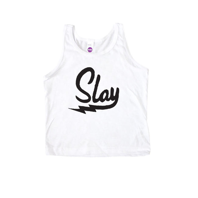 Slay Kid's Tank Top-onesie-baby-Little Misfits-tattoo-sleeves-trendy-baby-clothes-for-boys-girls-toddler