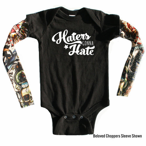Haters Gonna Hate - 20% off with CODE: HATERS-onesie-baby-Little Misfits-tattoo-sleeves-trendy-baby-clothes-for-boys-girls-toddler