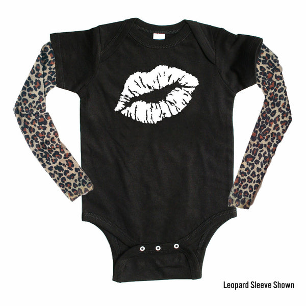 Kissy Lips - Tattoo Sleeve Onesie-onesie-baby-Little Misfits-tattoo-sleeves-trendy-baby-clothes-for-boys-girls-toddler
